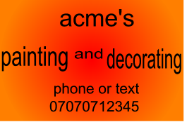 acme's painting and decorating